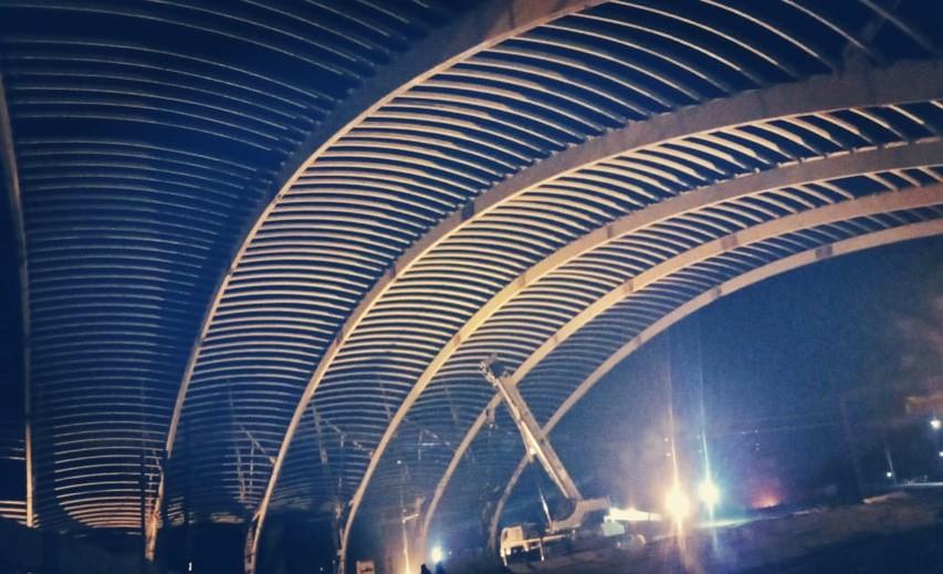 Space Frame North Side at Gandhinagar Railway Station